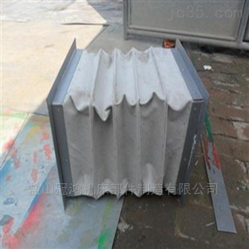 灰色硅胶布耐高温软连接