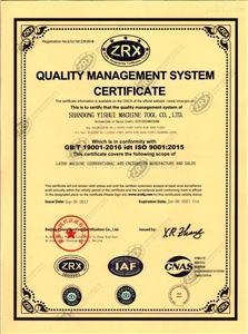 ISO9001質量管理體系認證證書(英文)