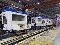 二手日本东芝630双工作台卧式加工中心