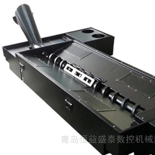 HDVTM高精度双柱铣车加工中心螺旋式排屑机